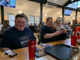 Enjoying Dinner at The Brewerir