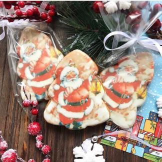 Пряник-ёлочка «Санта»