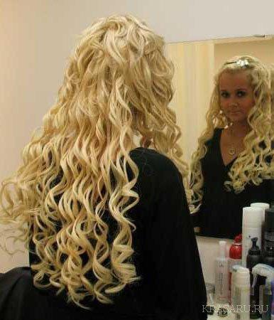 Завивка на длинные волосы: легкая, химическая, утюжком