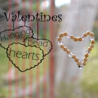 DIY Valentines Hanging Bead Hearts