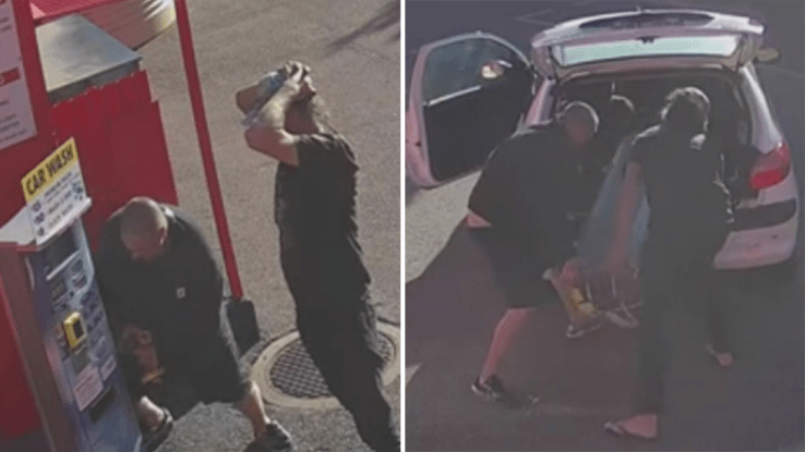 Two men steal car wash pay machine in Adelaide by ramming it with car