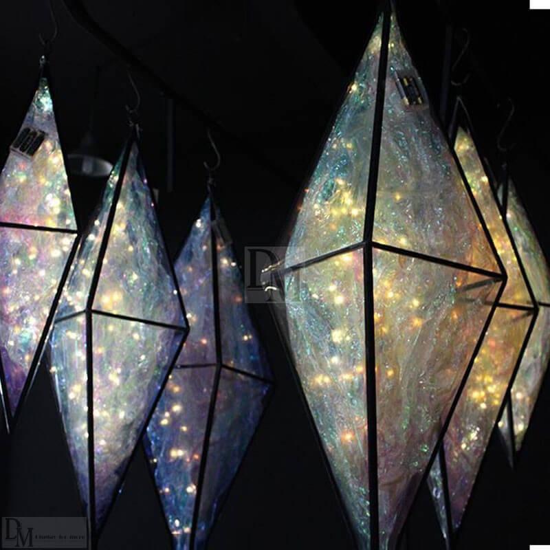 metal pvc wrapped lighting decoration