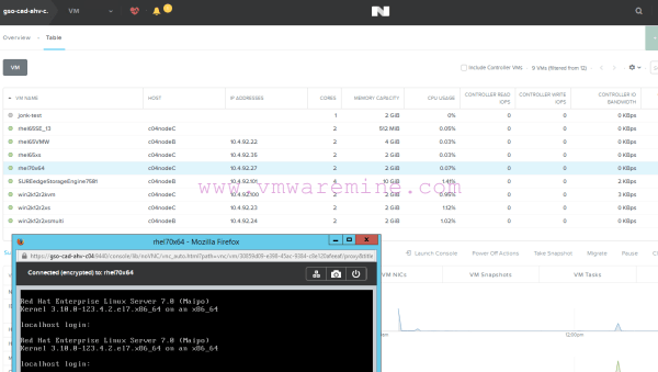 Nutanix Acropolis create RHEL 70 VM from qcow2 image