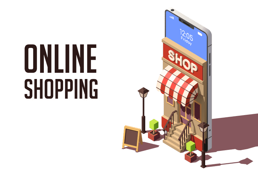 Online Shopping with mobile device image