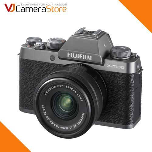 Fujifilm X-T100 + XC 15-45mm F/3.5-5.6 OIS PZ - Tặng túi Fujifilm Benro (L) + Thẻ 32Gb 90Mb - Hàng phân phối chính thức