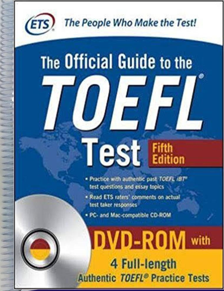 Official Guide to the TOEFL Test With CD-ROM, 5th Edition (Official Guide to the Toefl Ibt)