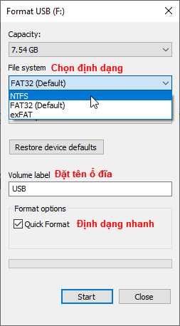 Format ổ cứng