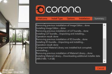 Corona 5 khong cai duoc Material Library