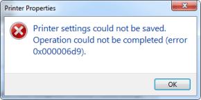 Chia sẻ máy in báo lỗi 0x000006d9