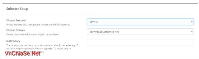 Cài đặt WordPress bằng Softaculous