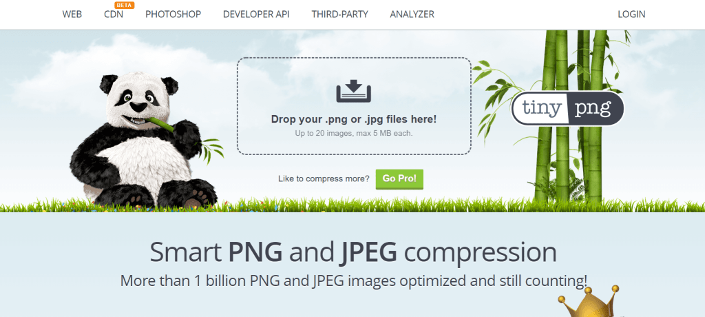 Online image compression free - TinyPNG