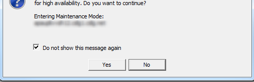 Enter maintenance mode