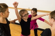 Emmeline Harris, 8, dances during a class at Sweet Briar College on Monday Jan. 23, 2017 in Sweet Briar, Va. Emmeline was born without semicircular ear canals and can have trouble balancing. To compensate for this Emmeline uses the horizon for balance which increases her chances of tripping, according to her mother Megan Harris.