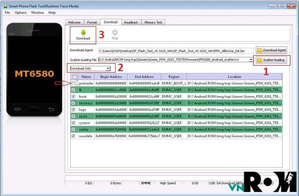 sp flash tool v3.1344.0