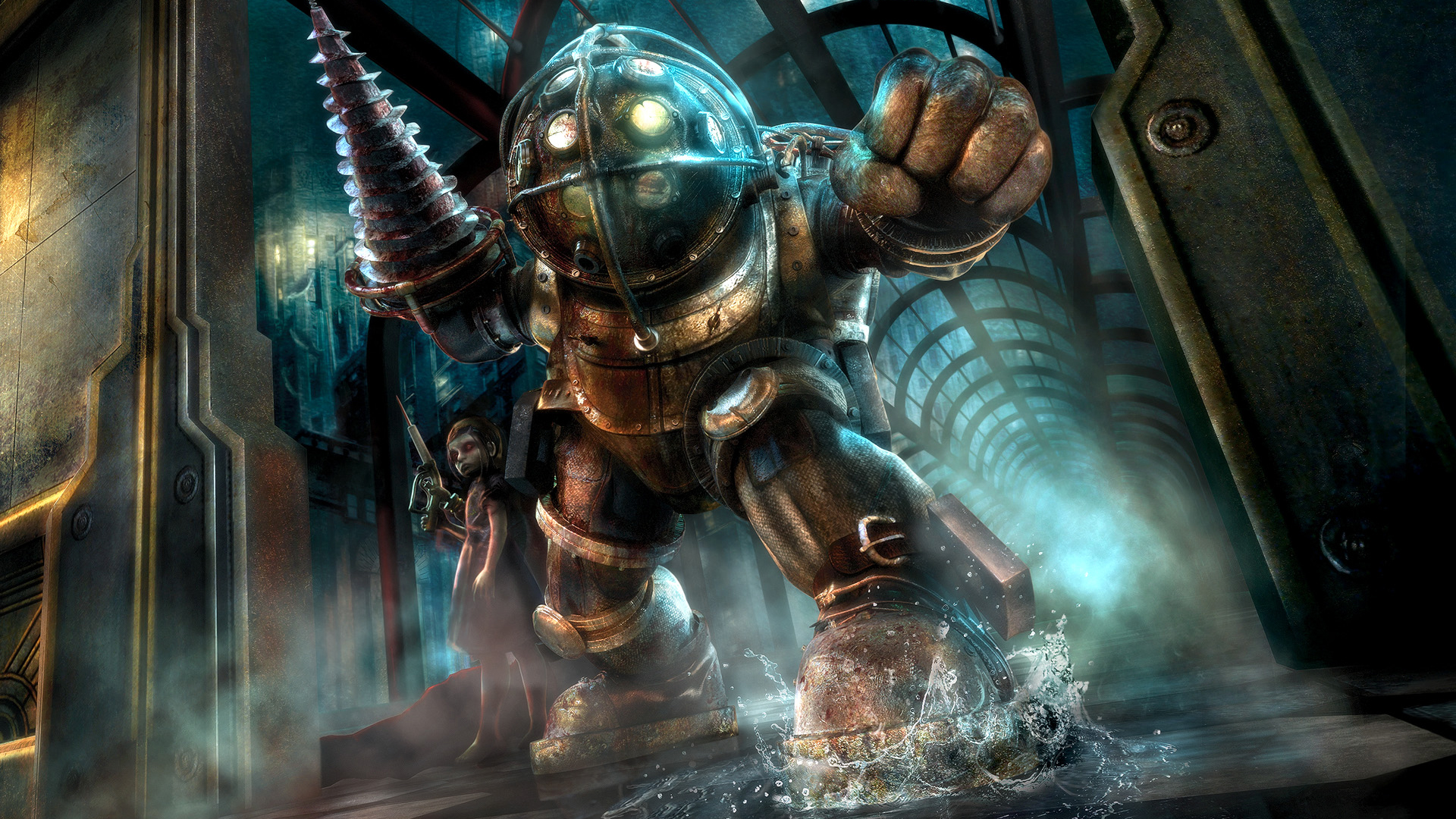 Bioshock Big Daddy And Little Sister Wallpaper Vns Now