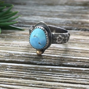 lavender turquoise ring