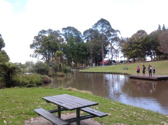 The duck pond in Hayman Park