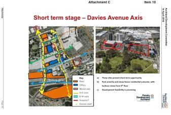 Davies Avenue potential axis Source: Panuku