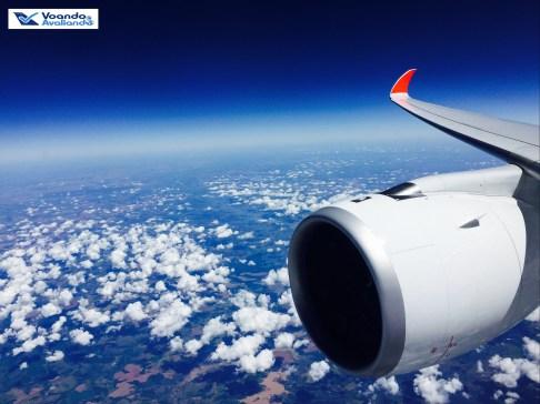 A350 - Asa + Turbina - Voo