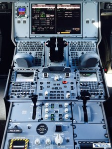 Cockpit A350 - Painel Central