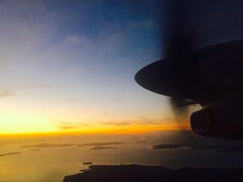 Por do Sol NZ - Jetstar