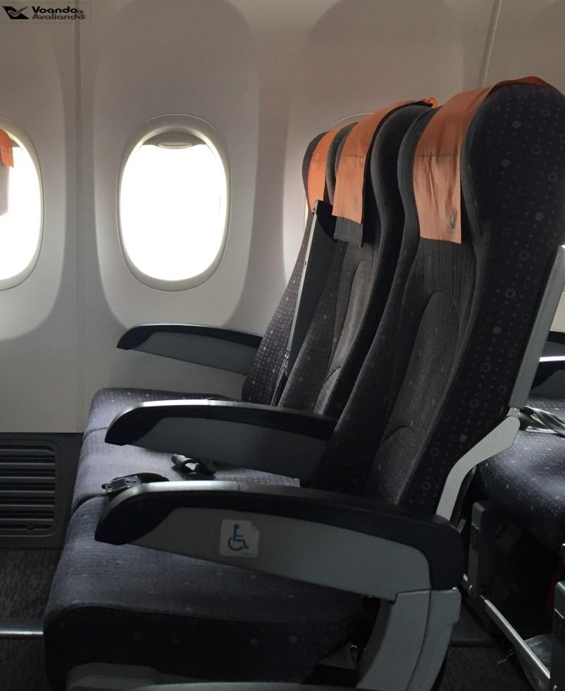 Visão Lateral - assentos GOL + - B737