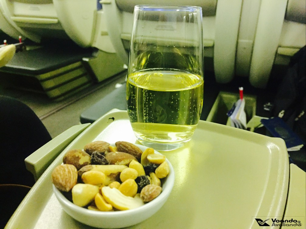 welcome drink - LATAM - B777