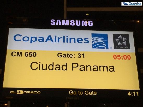 Painel Embarque Bogota