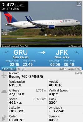 Flight Radar - B767 2