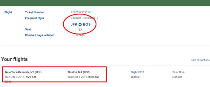 _passagem JetBlue JFK/BOS
