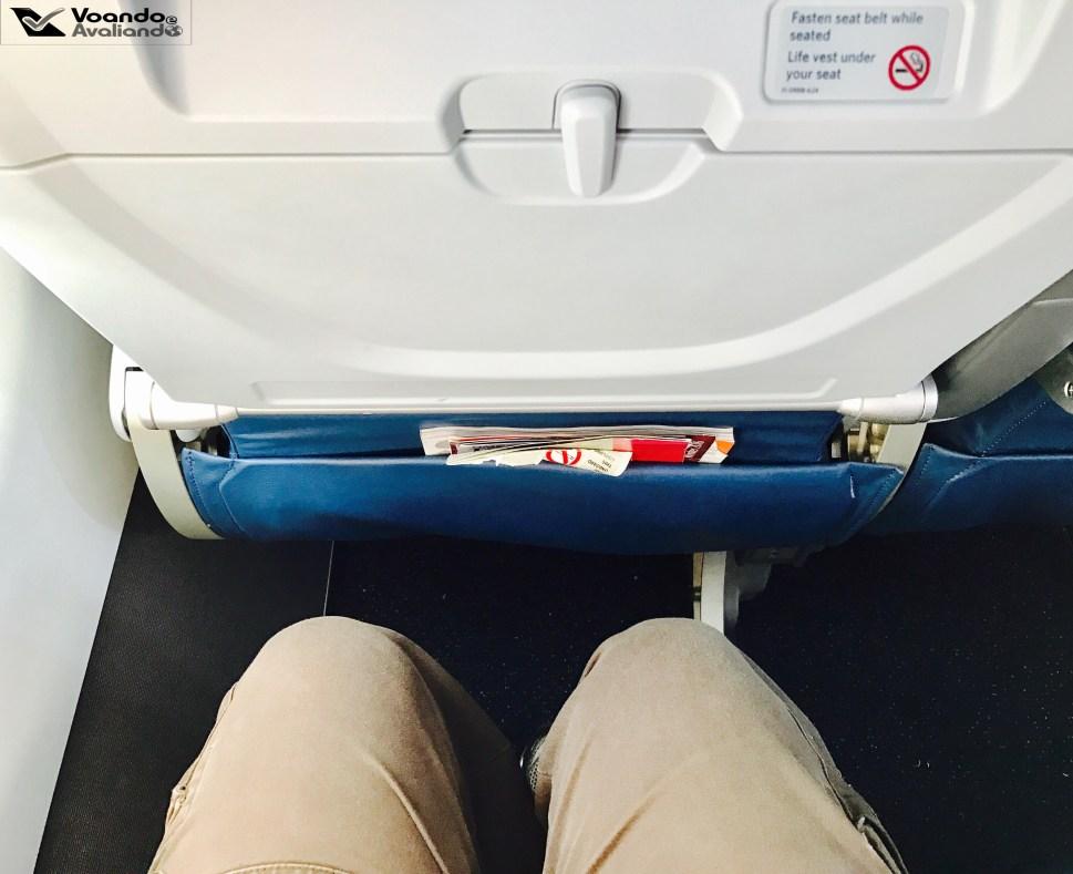 Espaço para pernas - A319 Delta