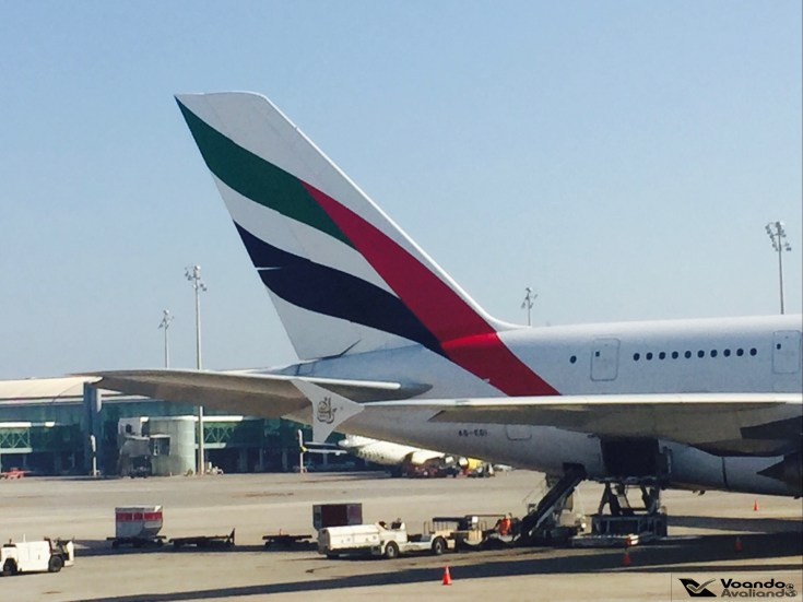 Cauda Emirates A380 - Barcelona