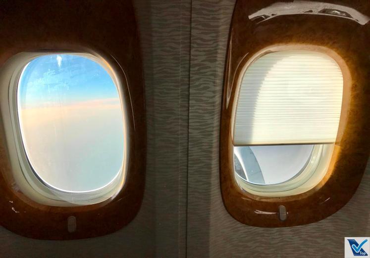 B777 - Emirates - Business Janelas Cortina