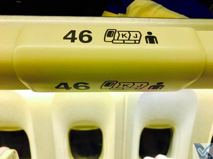 Emirates B777 Placa Assento 46K (1)