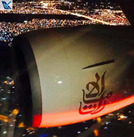 Motor B777 Emirates Noite 2