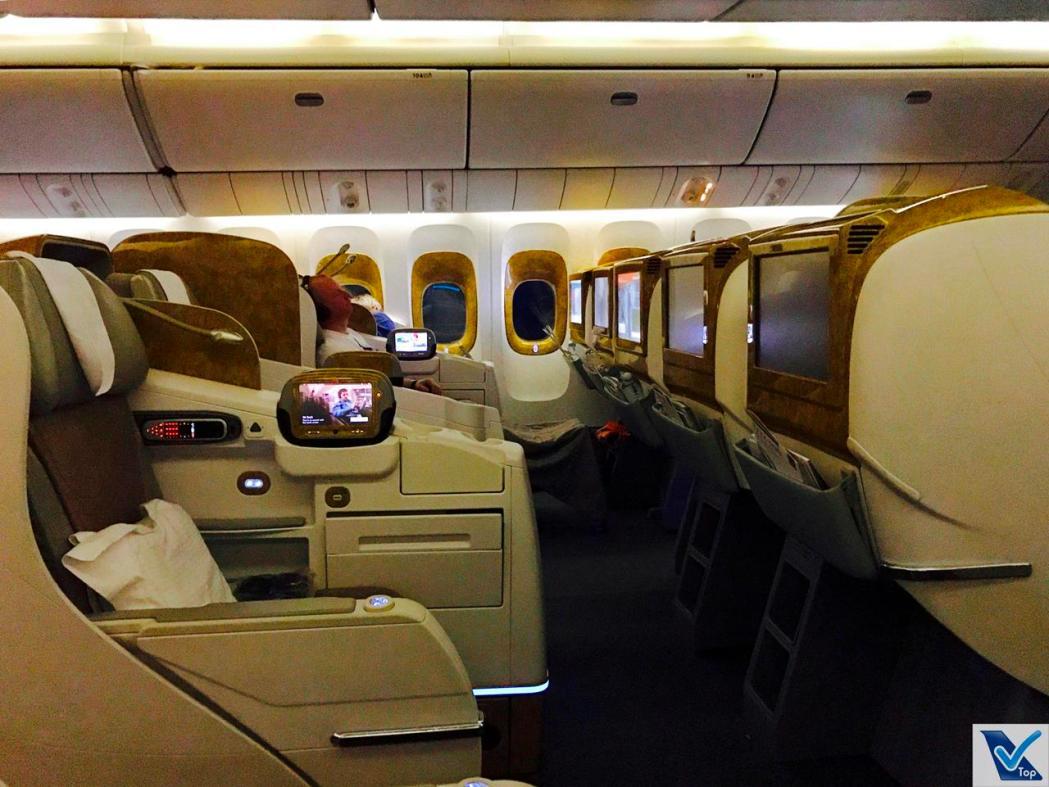 Poltronas - Visão Lateral Inside - B777 Emirates Business