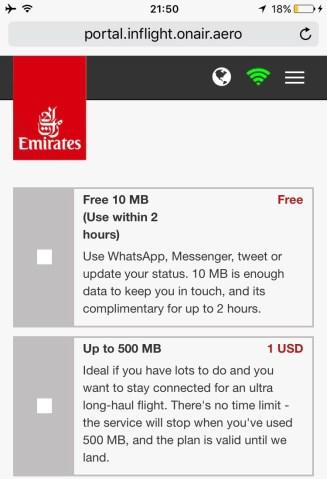 Emirates B777 - Wifi a bordo (2)