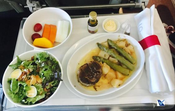 Almoço - Premium Economy - LATAM - GIG SCL