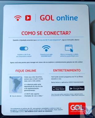 Cartão - Conexão Internet - B737 Gol - GIG EZE