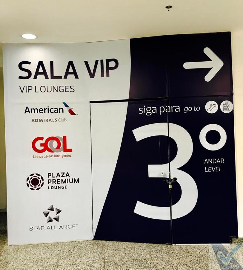 GIG - Emb Internacional - Placa Sala VIP Gol Premium
