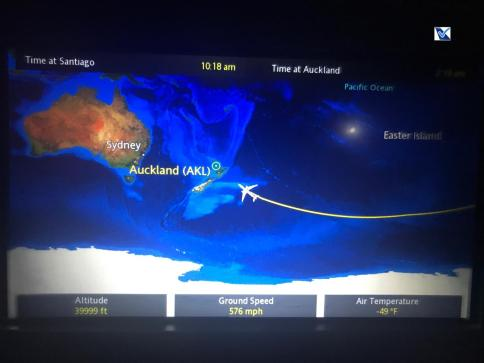 Mapa de Voo - LATAM - SCL AKL 2