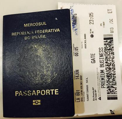 Passaporte + Passagem - SCL AKL