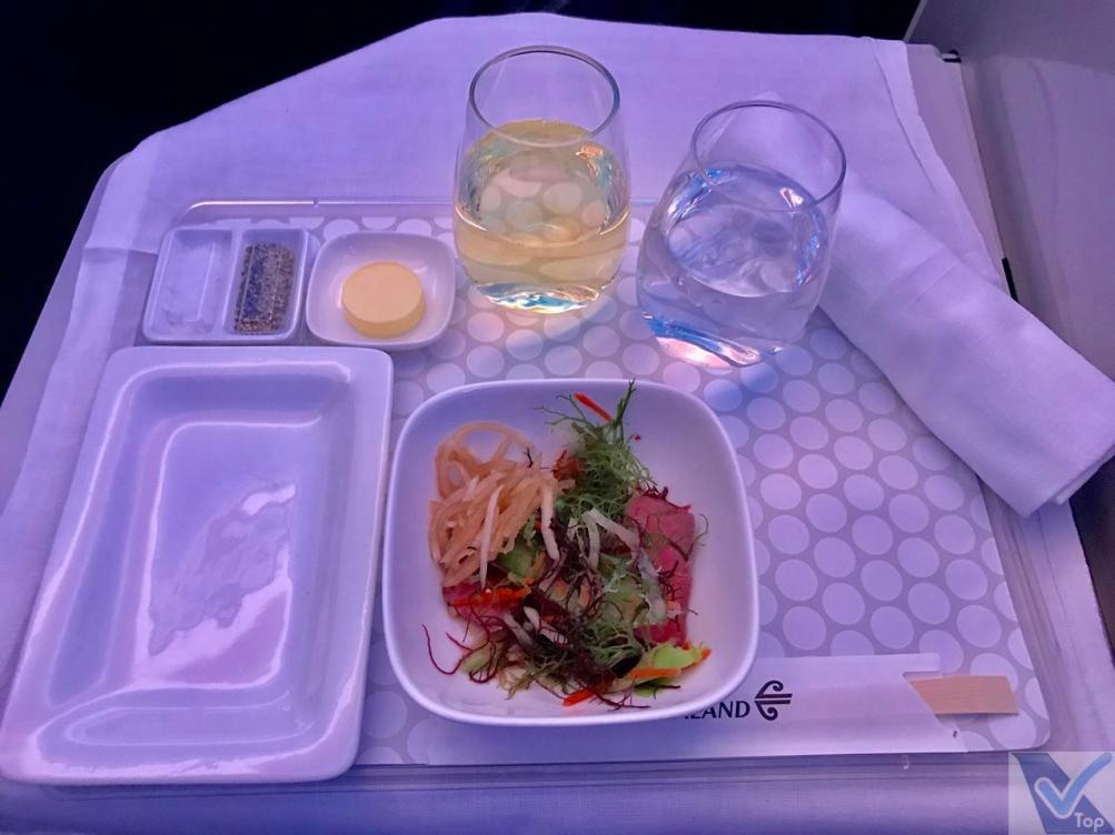 Almoço - ANZ - Business - AKL NRT - Entrada