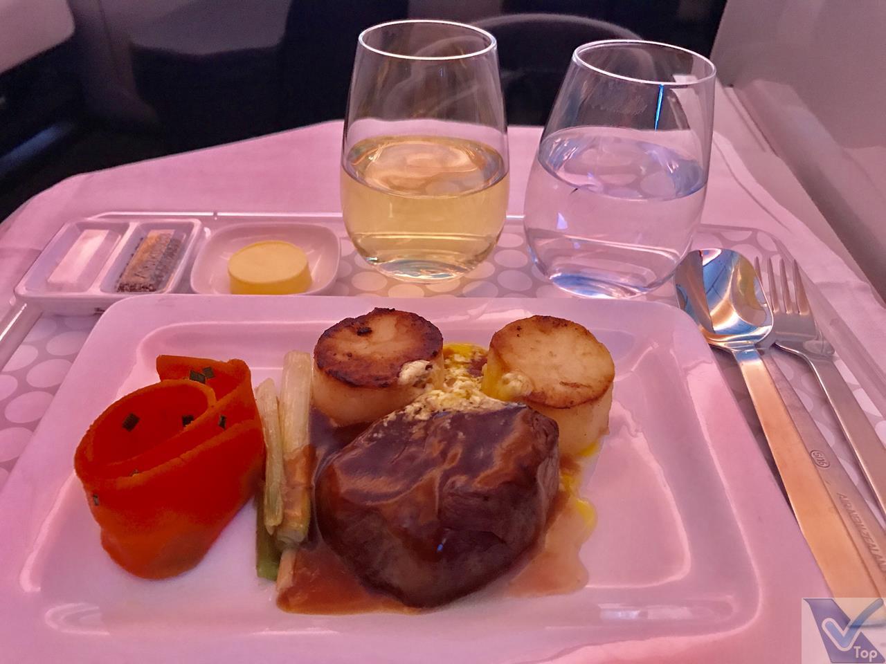 Almoço - ANZ - Business - AKL NRT Prato