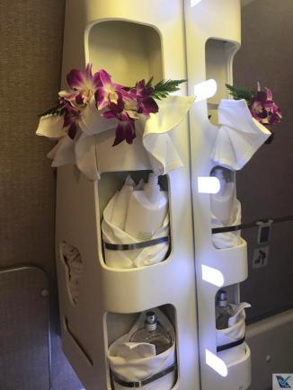 Banheiro - Thai - B777 - Business - Flores 3