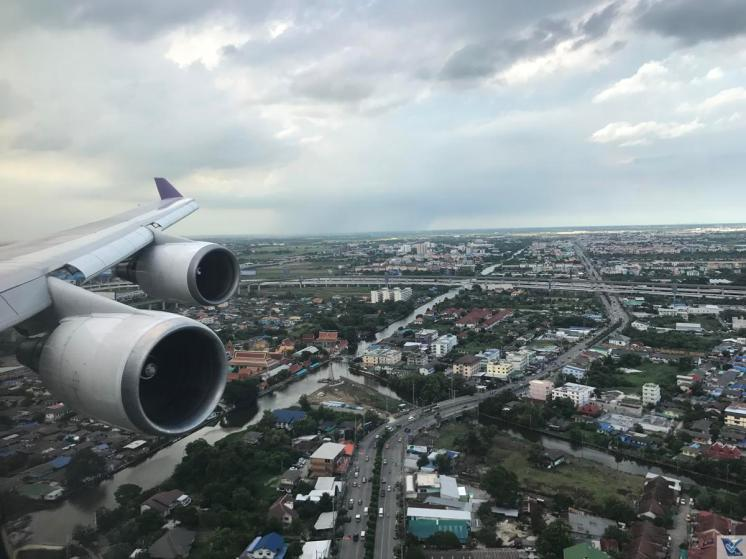 Janela - Aproximação BKK - B747 Thai 4