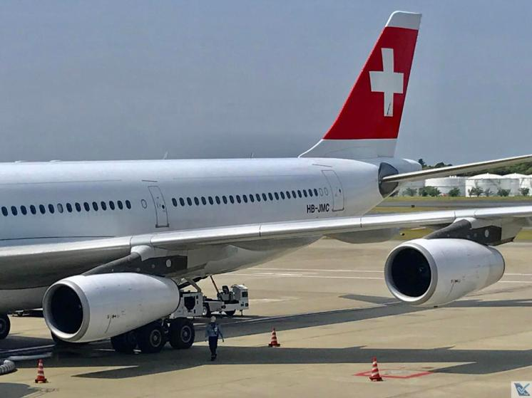 Narita - Pátio - A340 - Swiss