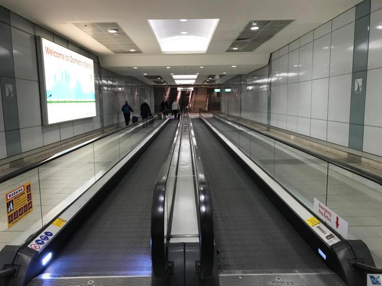Trem - Aeroporto Sydney - Esc Rolantes