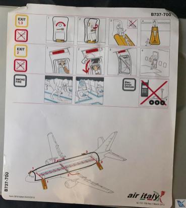 Cartão - Instruções Segurança - B737 Meridiana (1)