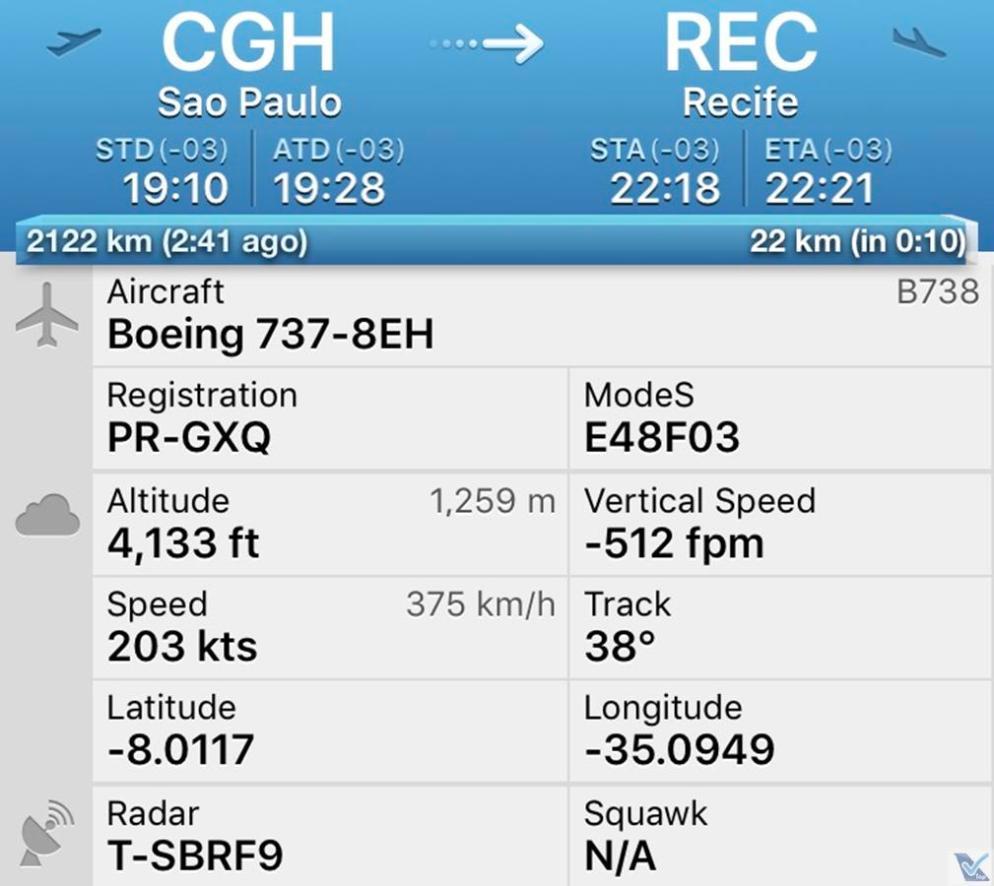 Flight Radar - CGH REC